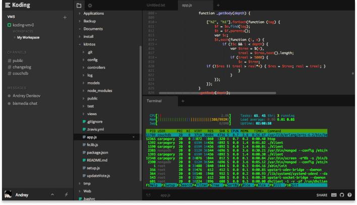 koding screenshot