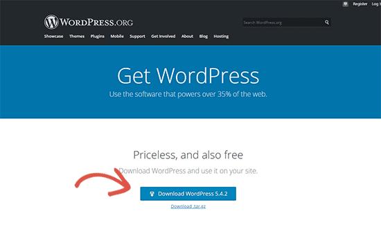 Downloading WordPress