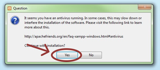 Deactivate any antivirus software.