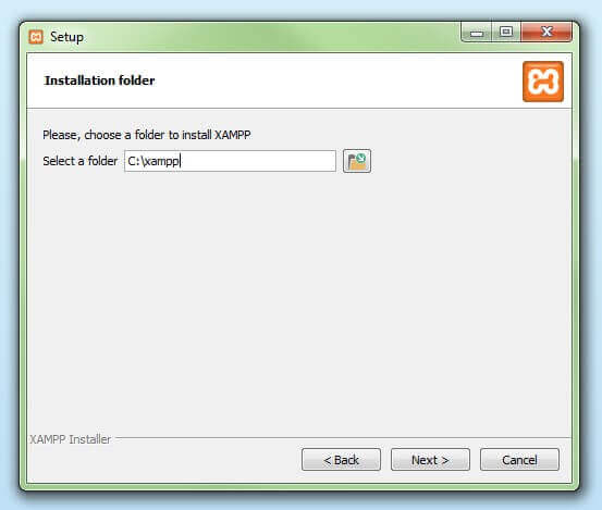 Choose the installation directory.