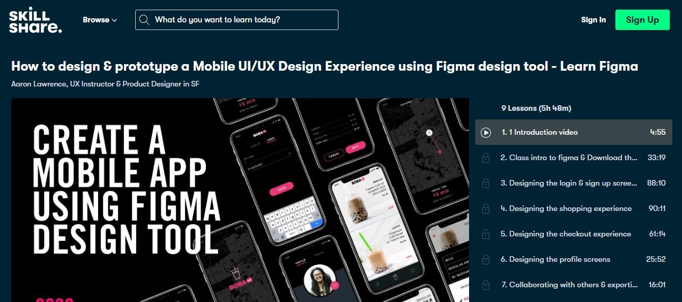 How to design & prototype a Mobile UI/UX Design Experience using Figma design tool - Learn Figma