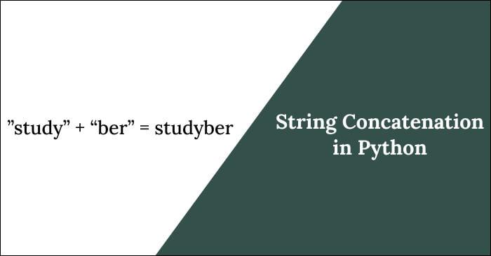 string concatenation in python