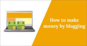 money by blogging